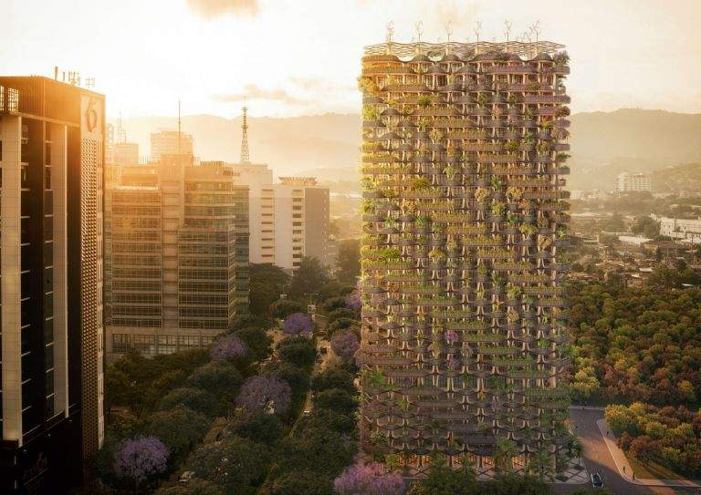Reainbow Tree by Vincent Callebaut Architectures